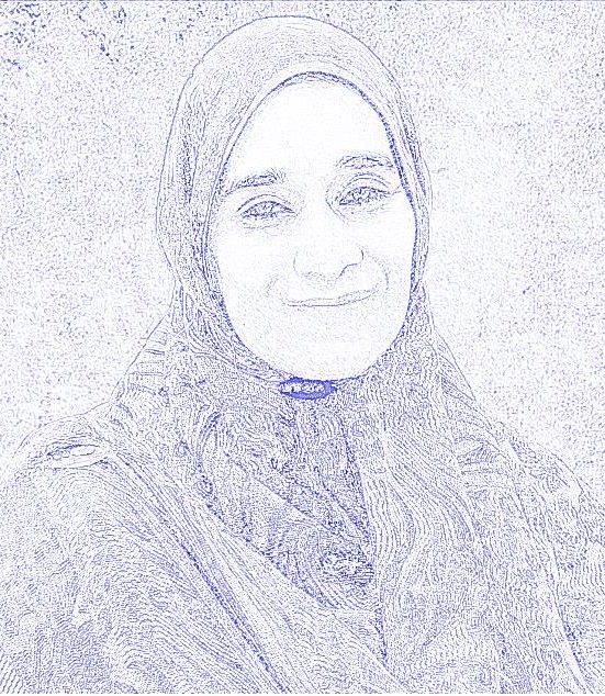 Pencil Sketch of Ashiya Abdool Satar
