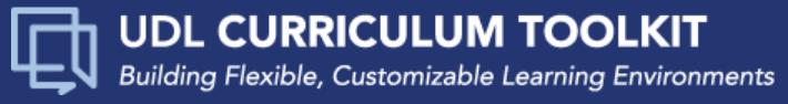 CAST UDL Curriculum Toolkit
