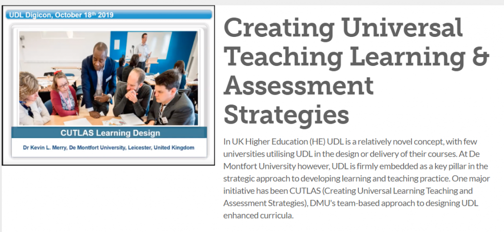 Creating Universal Teaching and Learning Strategies - homepage