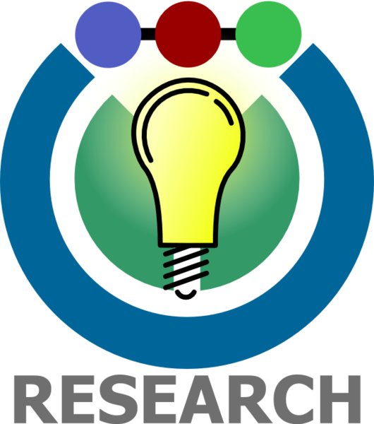 Research icon with light bulb