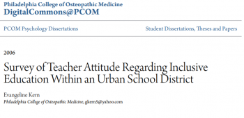 Survey of Teacher Attitude