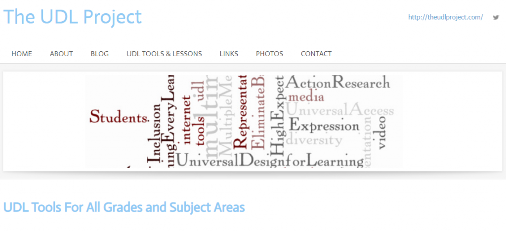 The UDL Project - homepage