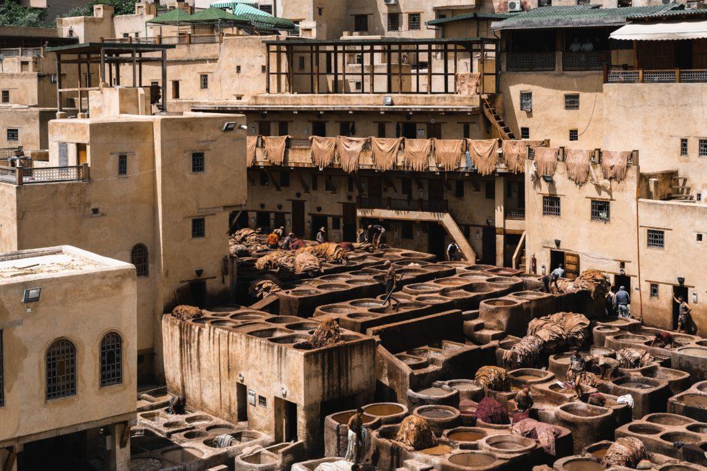 Morocco - beige concrete buildings